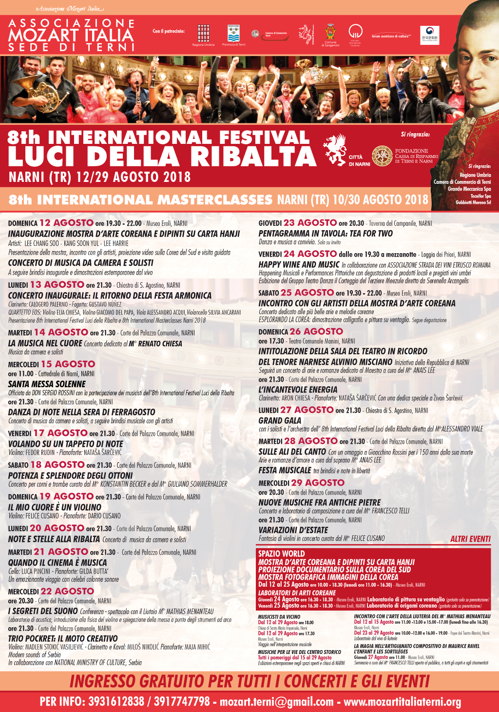INTERNATIONAL FESTIVAL LUCI DELLA RIBALTA