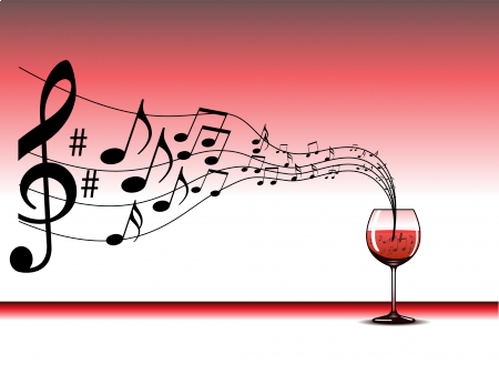Happy wine and music