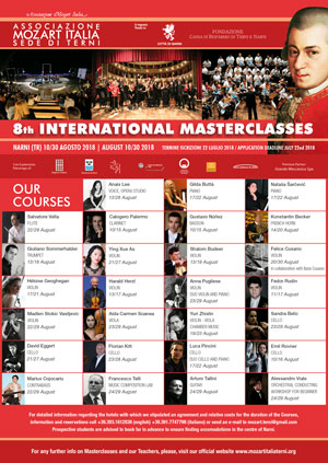 INTERNATIONAL MASTERCLASSES 2018